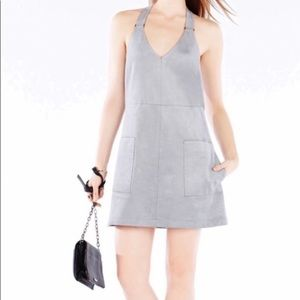 BCBGMaxaria FauxSued Short Dress baby blue